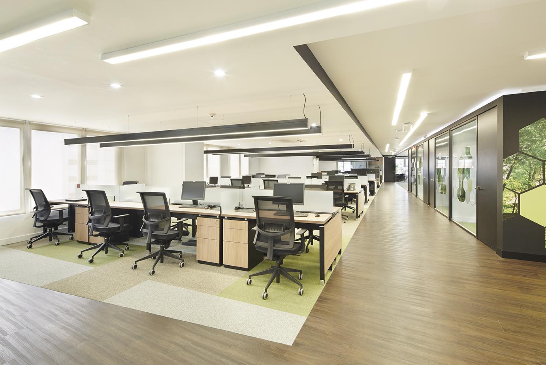 Espacio abierto a la luz for Espacios de oficina
