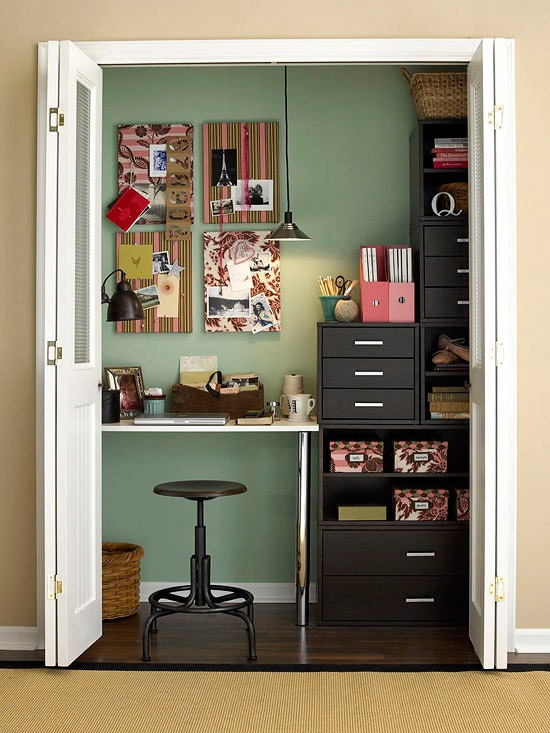 C mo decorar espacios peque os - Decorar despacho pequeno ...