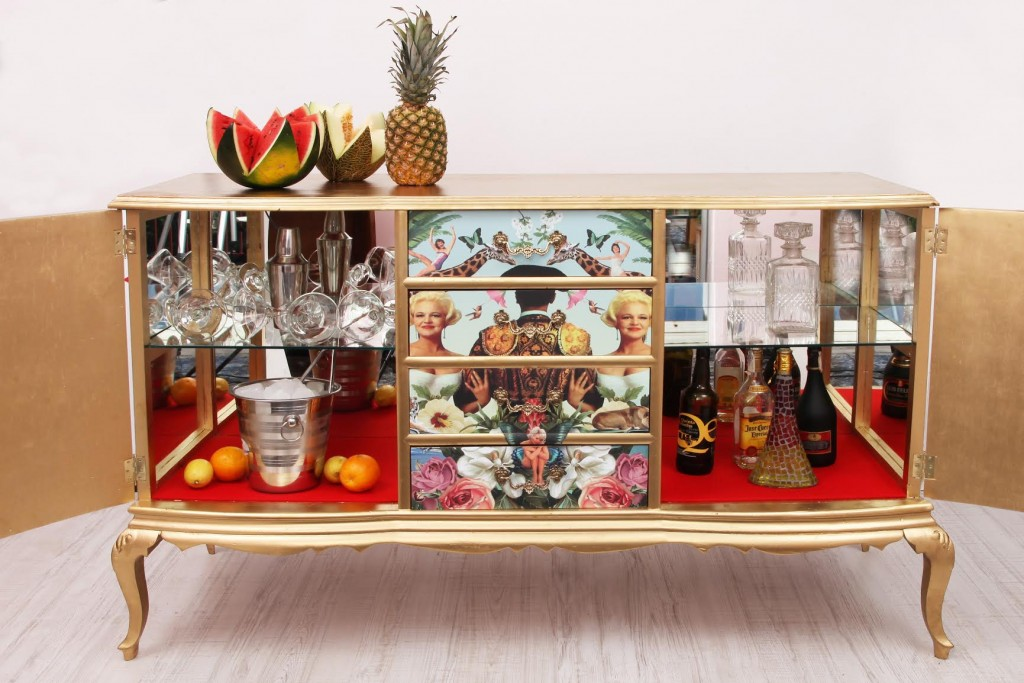 Mueble bar diseo free set mueble bar solstitial with for Muebles vintage outlet
