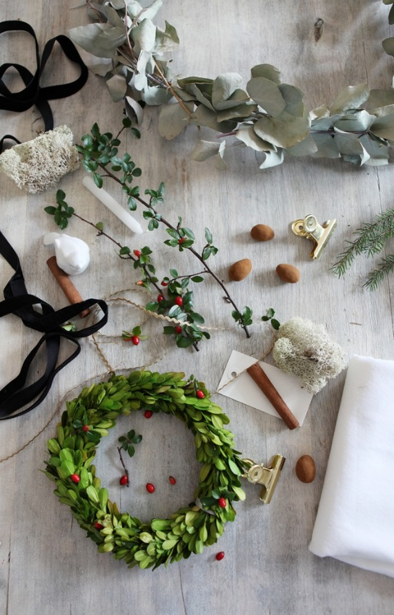 Decoraci n de navidad con elementos naturales - Elementos de decoracion ...