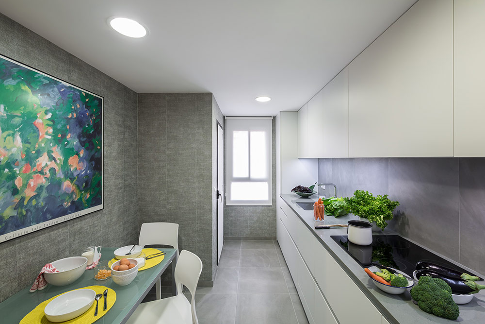 Inspiraci n para la decoraci n de cocinas peque as - Cocinas estrechas ...