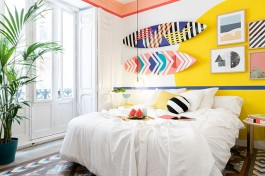 Dormitorio decorado estilo surfero
