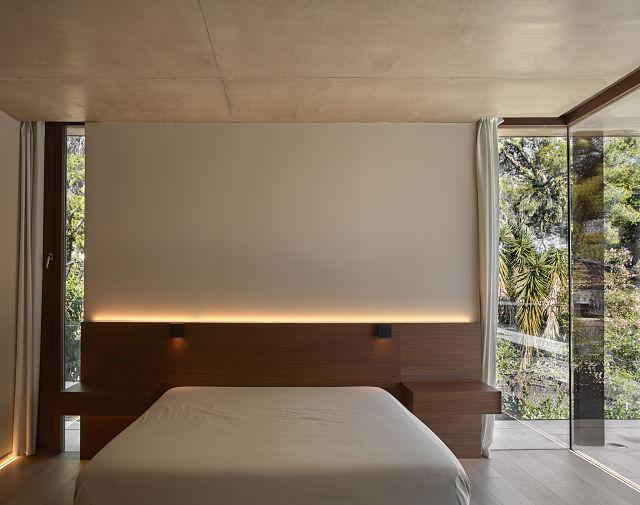 Dormitorio en casas de diseño