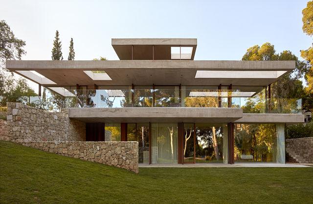 Transparencia de la casa La Pinada