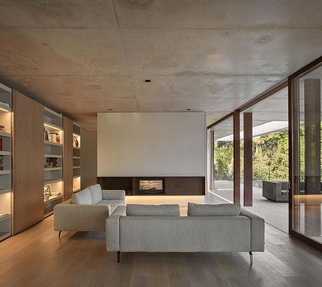 Casas de diseño; salón casa Pinada