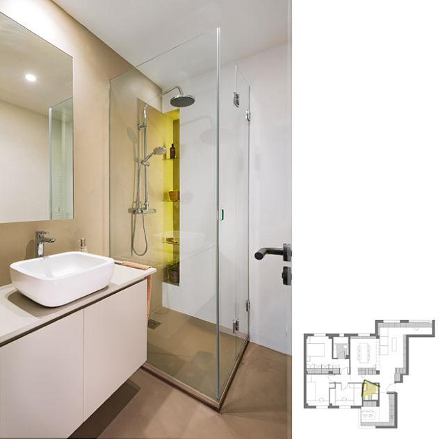 Baño de diseño con microcemento