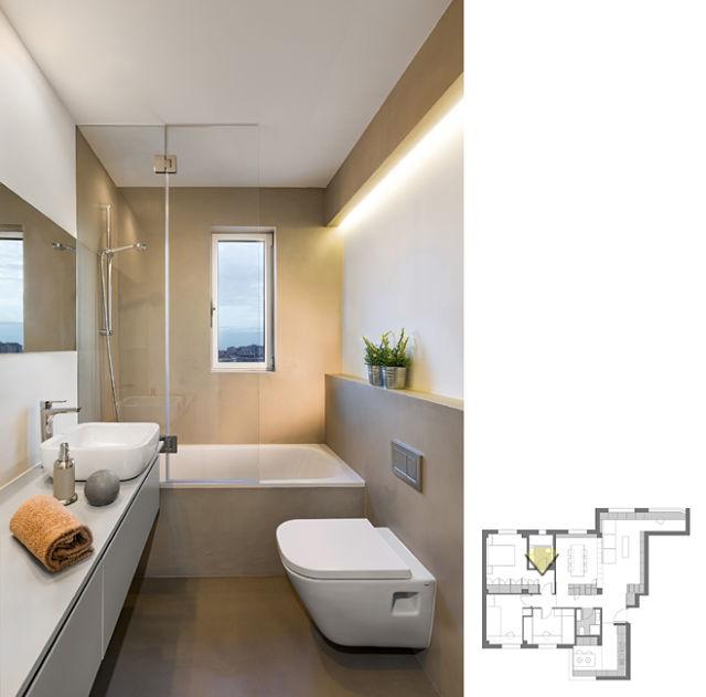 Detalle de baño reformado de diseño