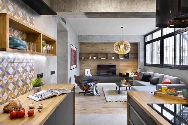 Dise o de interior de vivienda poblenou en 3 actos for Diseno de viviendas