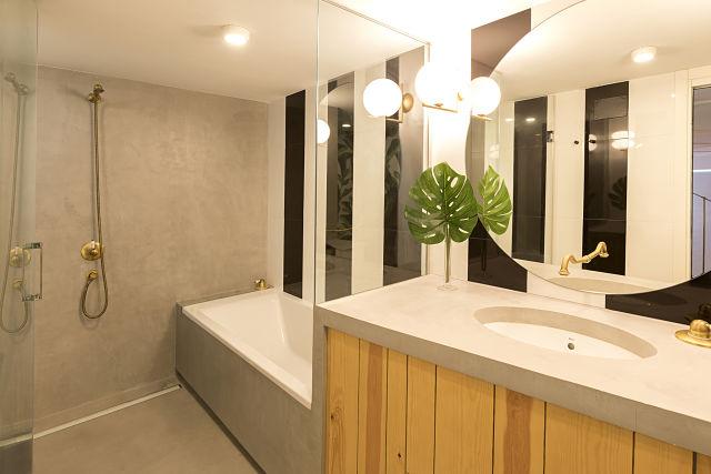 Baño en Loft de diseño