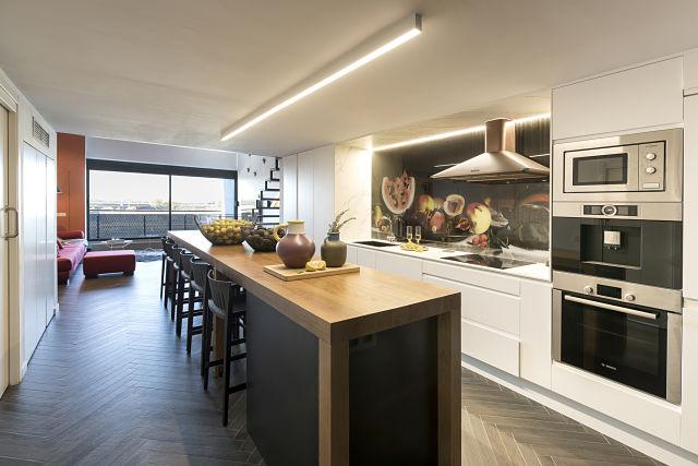 Cocina de un loft de diseño