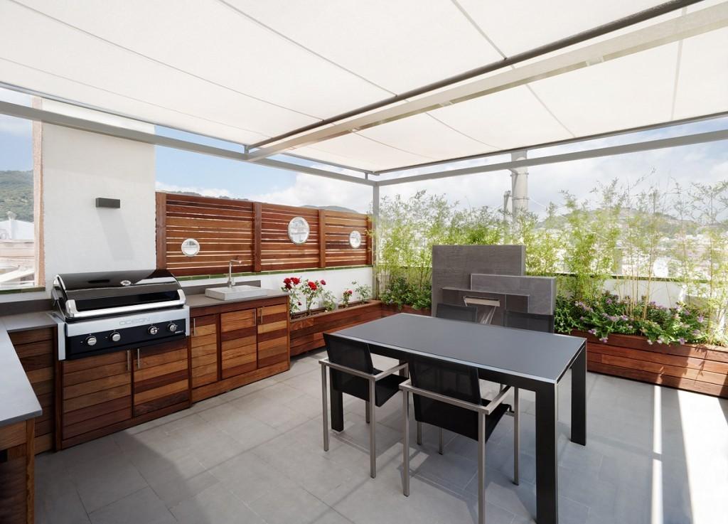 Foto cocina exterior completa con p rgola 279864 for Cocinas en terrazas