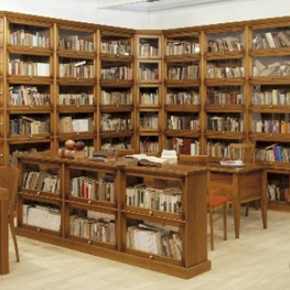 librera modular madera maciza en esquina