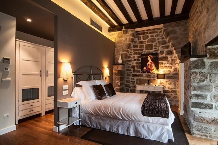 Ideas para la decoraci n de dormitorios - Dormitorio rustico moderno ...