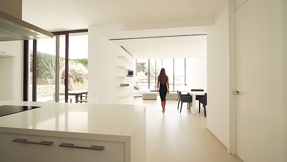 Arquitectura y dise o minimalista casa el portet for Diseno casa minimalista