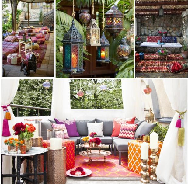 Inspiraci n para la decoraci n de jardines y terrazas for Estilo etnico decoracion