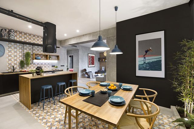 Dise o de interior de vivienda poblenou en 3 actos - Disenos de interior ...