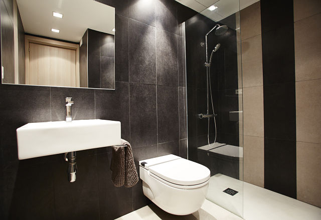 Diseño de baño en apartamento