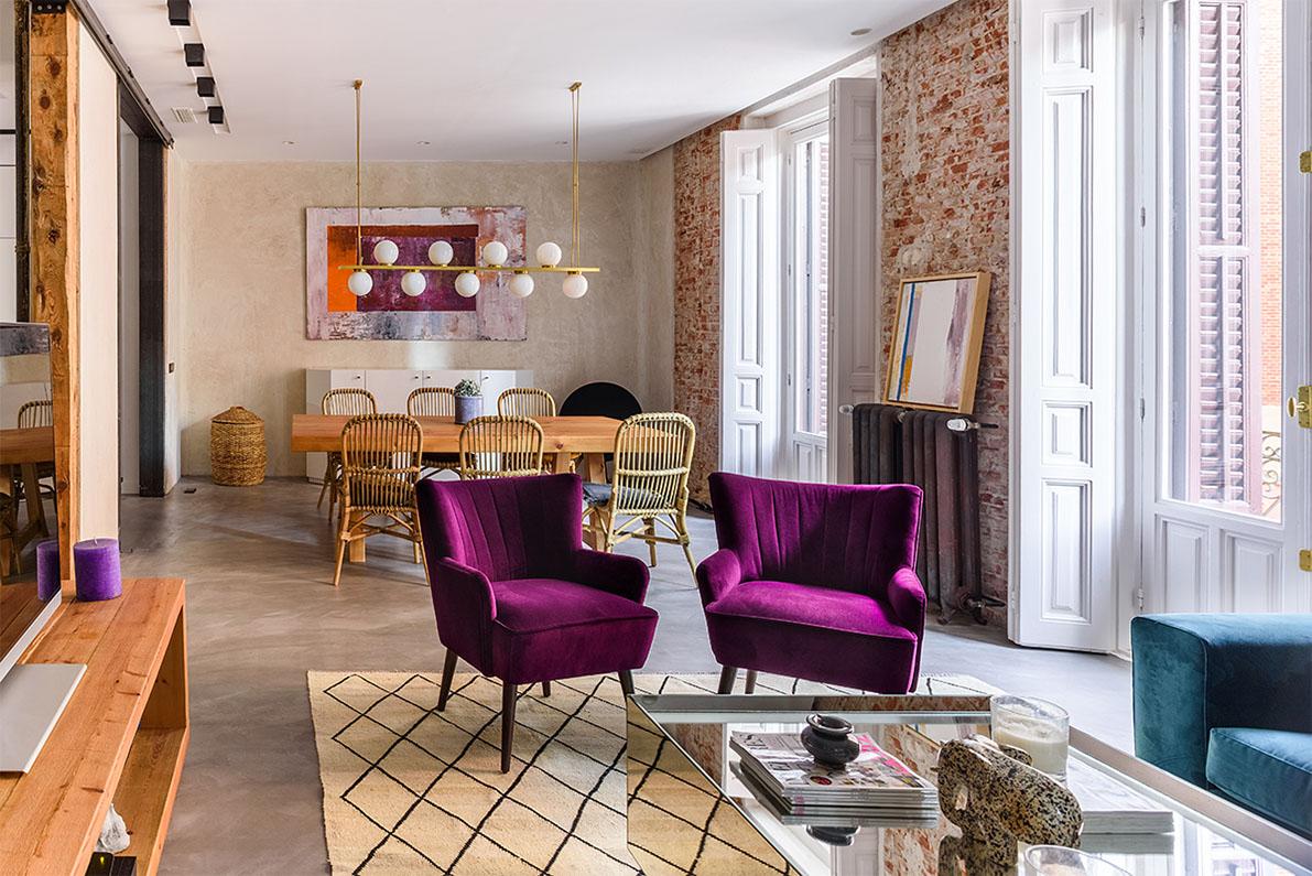 La continuidad en la reforma de un piso antiguo en madrid for Decoracion piso antiguo