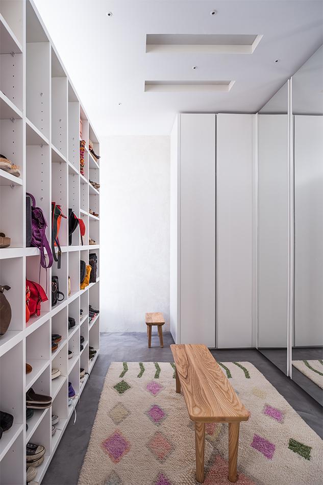 Vestidor en reforma de un piso antiguo en Madrid