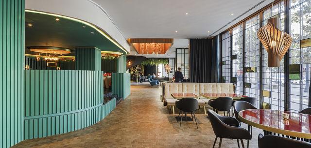 Restaurante de la reina en interiorismo de hotel Marquis Issabel