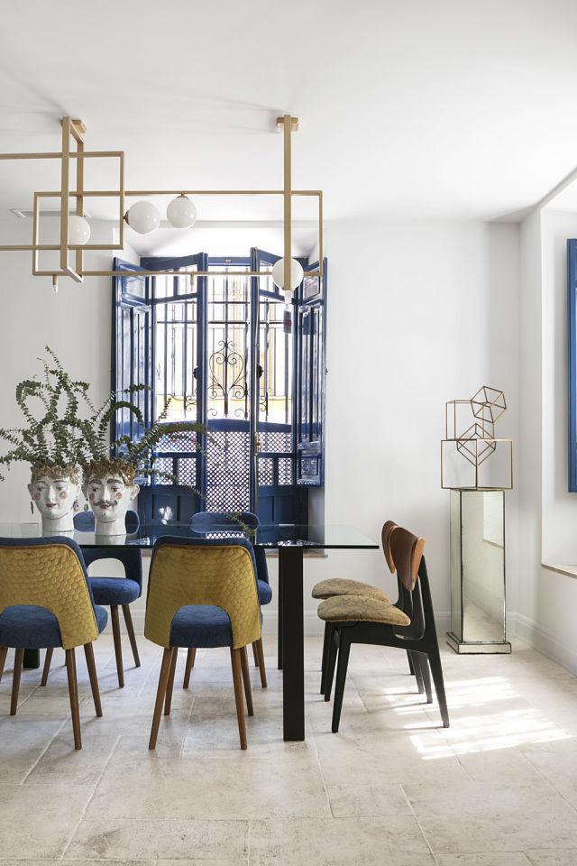 Comedor en el diseño interior de un palacete