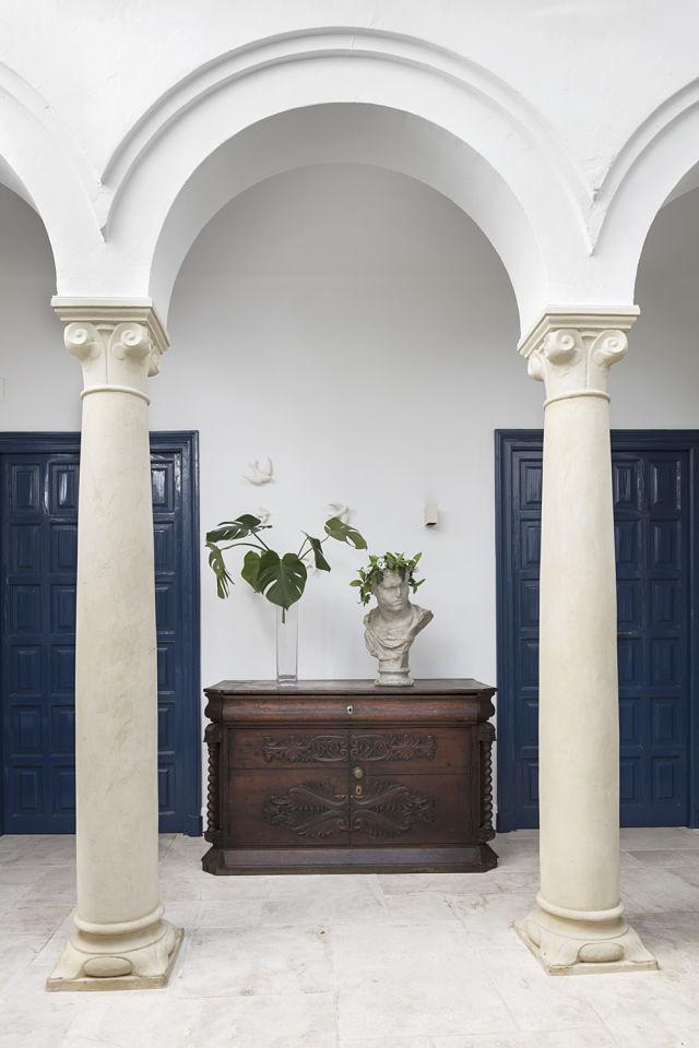 Patio interior de un palacete en Córdoba