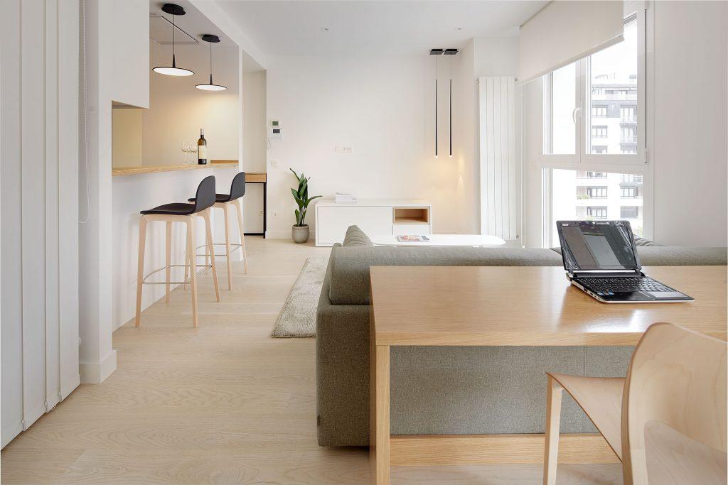 Diseño de salón comedor en un mini piso