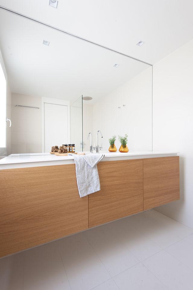 Baño en la reforma de un mini apartamento