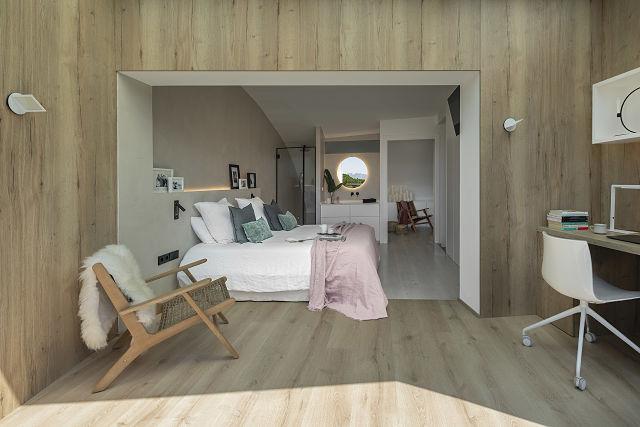 Dormitorio slow deco en Dawn house