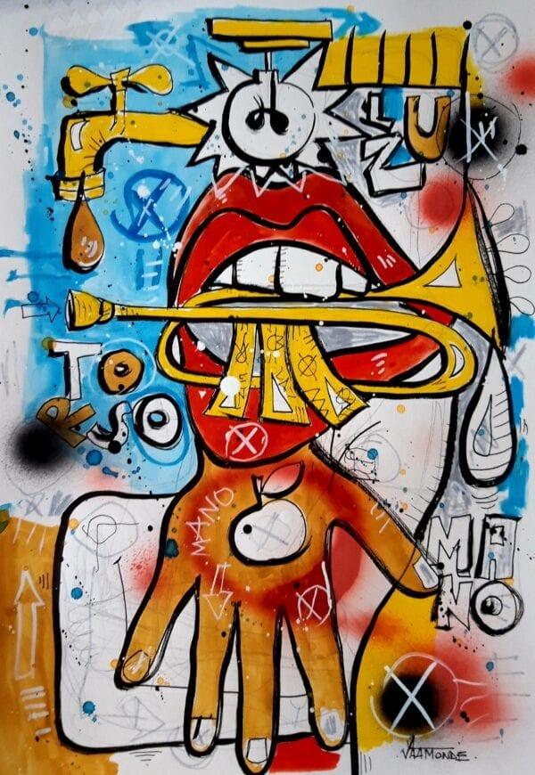 Trumpet Monster, obra de David Vaamonde