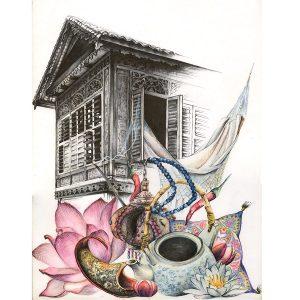 un hogar en Asia de Laucky ilustra