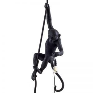 lampara monkey ceiling negra de Seletti