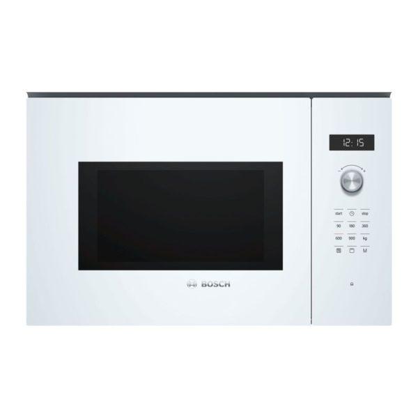 microondas integrable bosch bel554mw0 con grill blanco 60cm