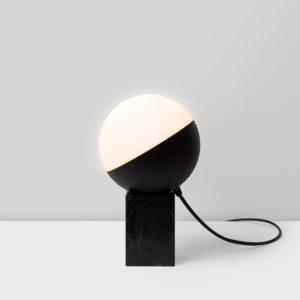 Half bola pequeña base de mármol de Milán Iluminación