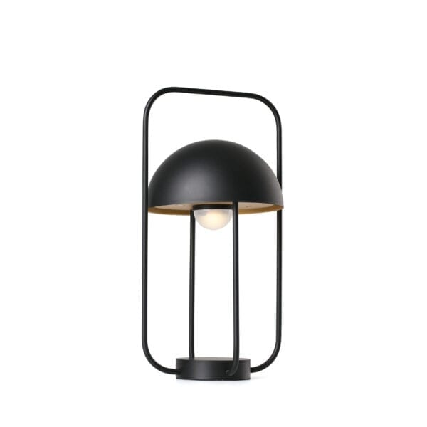Lámpara portátil JELLYFISH LED negro y oro de Faro Barcelona