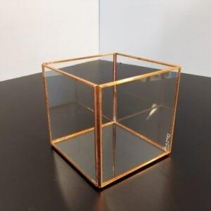 Portavelas transparente 10x10x10cm